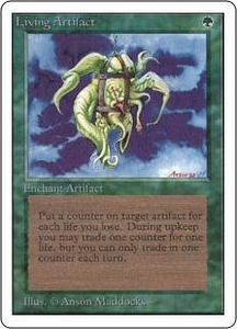 Magic the Gathering Unlimited Edition Single Card Rare Living Artifact