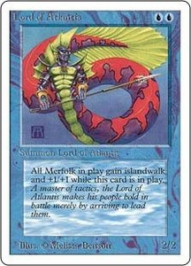 Magic the Gathering Unlimited Edition Single Card Rare Lord of Atlantis