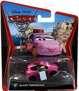 Disney / Pixar CARS 2 Movie Exclusive 1:55 Die Cast Car #49 Mary Esgocar
