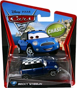 Disney / Pixar CARS 2 Movie 1:55 Die Cast Car #33 Becky Wheelin