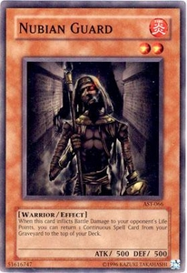 YuGiOh Ancient Sanctuary Single Card Common AST-066 Nubian Guard