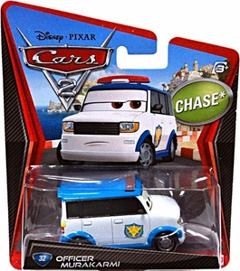 Disney / Pixar CARS 2 Movie 1:55 Die Cast Car #32 Officer Murakarmi