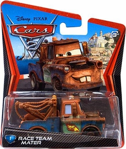 Disney / Pixar CARS 2 Movie 1:55 Die Cast Car #1 Race Team Mater