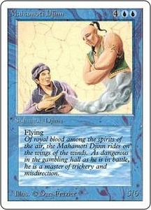Magic the Gathering Unlimited Edition Single Card Rare Mahamoti Djinn