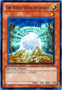 YuGiOh 5D's Dragons Collide Single Card Common SDDC-EN006 The White Stone of Legend