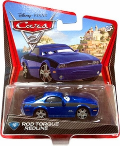 Disney / Pixar CARS 2 Movie 1:55 Die Cast Car #16 Rod Torque Redline