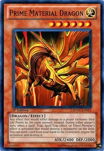 YuGiOh 5D's Dragons Collide Single Card Common SDDC-EN011 Prime Material Dragon