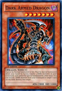 YuGiOh 5D's Dragons Collide Single Card Common SDDC-EN012 Dark Armed Dragon