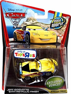 Disney / Pixar CARS 2 Movie Exclusive 1:55 Die Cast Car Jeff Gorvette with Metallic Finish [Special Deco]