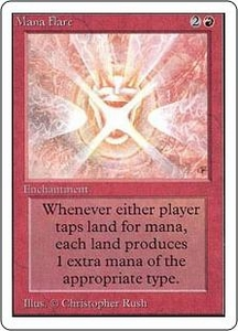 Magic the Gathering Unlimited Edition Single Card Rare Mana Flare