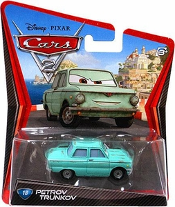 Disney / Pixar CARS 2 Movie 1:55 Die Cast Car #18 Petrov Trunkov
