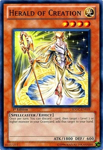YuGiOh 5D's Dragons Collide Single Card Common SDDC-EN019 Herald of Creation
