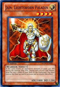 YuGiOh 5D's Dragons Collide Single Card Common SDDC-EN020 Jain, Lightsworn Paladin