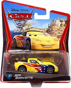 Disney / Pixar CARS 2 Movie 1:55 Die Cast Car #7 Jeff Gorvette