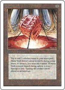 Magic the Gathering Unlimited Edition Single Card Rare Mana Vault
