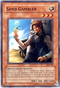 YuGiOh Ancient Sanctuary Single Card Common AST-069 Sand Gambler