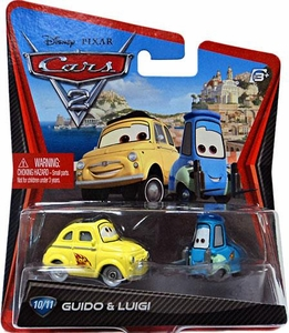 Disney / Pixar CARS 2 Movie 1:55 Die Cast Car #10 & #11 Guido & Luigi