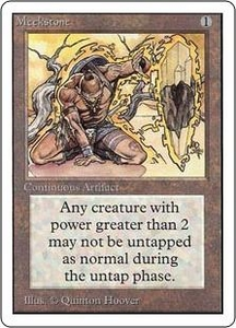 Magic the Gathering Unlimited Edition Single Card Rare Meekstone