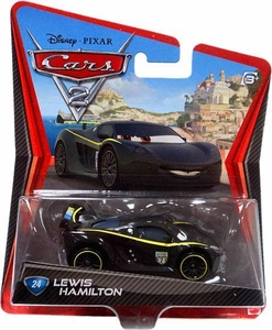 Disney / Pixar CARS 2 Movie 1:55 Die Cast Car #24 Lewis Hamilton