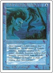 Magic the Gathering Unlimited Edition Single Card Common Merfolk of the Pearl Trident