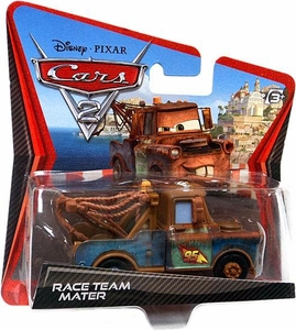 Disney / Pixar CARS 2 Movie 1:55 Die Cast Checkout Lane Package Race Team Mater
