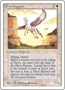 Magic the Gathering Unlimited Edition Single Card Common Mesa Pegasus