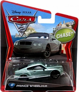 Disney / Pixar CARS 2 Movie 1:55 Die Cast Car Prince Wheeliam Chase Piece!
