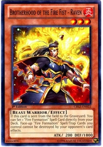YuGiOh Zexal Cosmo Blazer Single Card Common CBLZ-EN022 Brotherhood of the Fire Fist - Raven