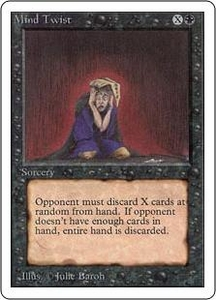 Magic the Gathering Unlimited Edition Single Card Rare Mind Twist