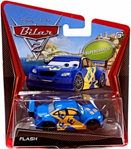 Disney / Pixar CARS 2 Movie 1:55 Die Cast Car Flash {Sweden} Super Chase Piece!