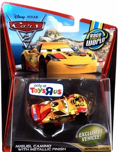 Disney / Pixar CARS 2 Movie Exclusive 1:55 Die Cast Car Miguel Camino with Metallic Finish [Special Deco]