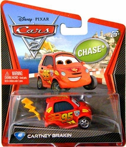 Disney / Pixar CARS 2 Movie 1:55 Die Cast Car #40 Cartney Brakin Chase Piece!