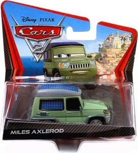 Disney / Pixar CARS 2 Movie 1:55 Die Cast Checkout Lane Package Miles Axlerod