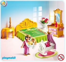 Playmobil Magic Castle Set #5146 Royal Bed Chamber with Cradle