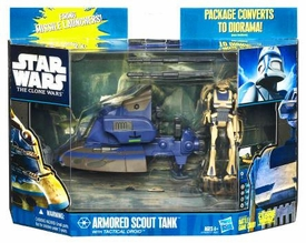 Star Wars 2010 Clone Wars Vehicle & Action Figure Pack Armored Scout Tank with Tactical Droid