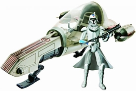 Star Wars 2010 Clone Wars Vehicle & Action Figure Pack Freeco Speeder with Clone Trooper