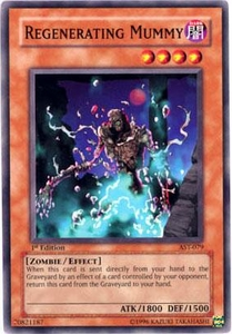 YuGiOh Ancient Sanctuary Single Card Common AST-079 Regenerating Mummy