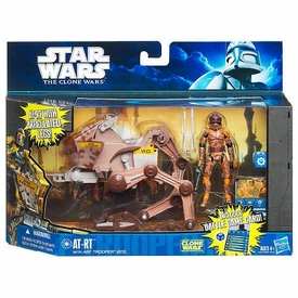 Star Wars 2010 Clone Wars Vehicle & Action Figure Pack AT-RT with ARF Trooper Boil