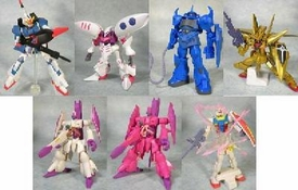 Gundam Bandai GashaPon DX4 #40 Set of 7 Mini Figures