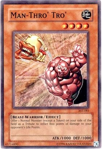 YuGiOh Ancient Sanctuary Single Card Common AST-081 Man-Thro' Tro'