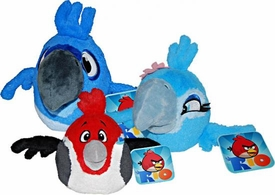Angry Birds RIO Set of 3 Talking Rio 8 Inch DELUXE Plush Figures [Blu, Jewel & Pedro]