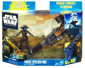 Star Wars 2010 Clone Wars Vehicle & Action Figure Pack Pirate Speeder Bike with Cad Bane
