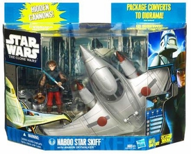 Star Wars 2010 Clone Wars Vehicle & Action Figure Pack Naboo Skiff with Anakin Skywalker