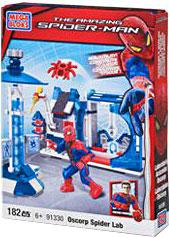 Amazing Spider-Man Mega Bloks Set #91330 Oscorp Spider Lab