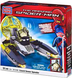 Amazing Spider-Man Mega Bloks Set #91338 Lizard Sewer Speeder