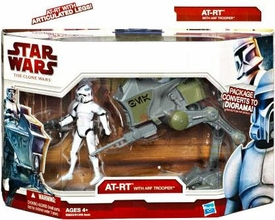 Star Wars 2010 Clone Wars Vehicle & Action Figure Pack AT-RT with ARF Trooper