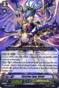Cardfight Vanguard ENGLISH Breaker of Limits Single Card RRR Rare BT06-001EN Circular Saw, Kiriel
