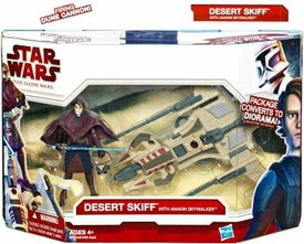 Star Wars 2010 Clone Wars Vehicle & Action Figure Pack Desert Sport Skiff with Anakin Skywalker