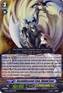 Cardfight Vanguard ENGLISH Breaker of Limits Single Card RRR Rare BT06-004EN Incandescent Lion, Blond Ezel