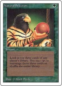 Magic the Gathering Unlimited Edition Single Card Rare Natural Selection Clean Front Played Back